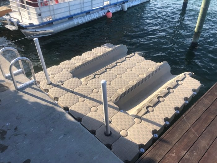 Candock floating dock walk around
