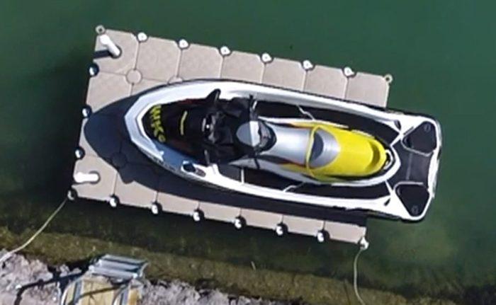 Jet ski drive-on floating dock