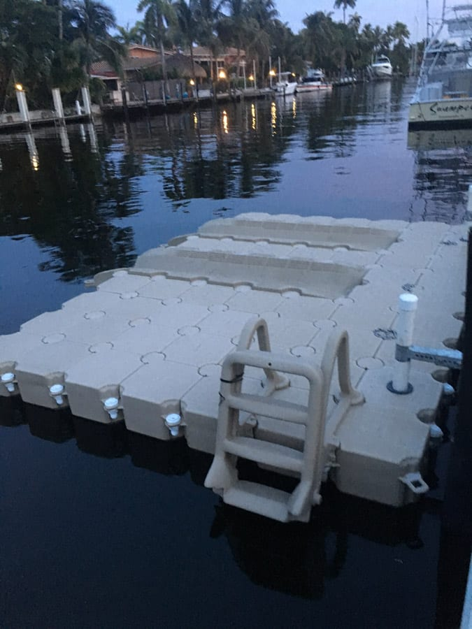 Floating dock for 2 jet skis and kayaks