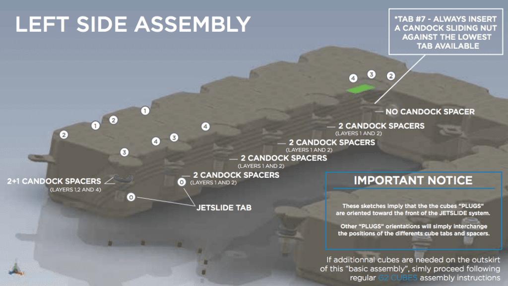 Life jetside assembly