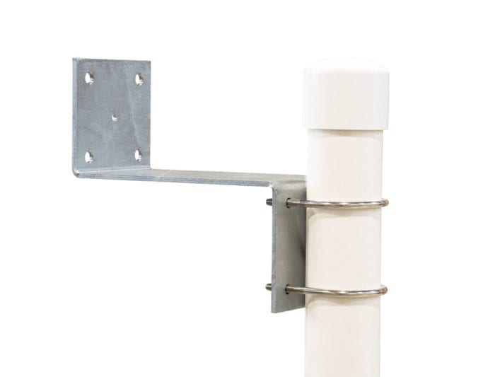 Z-bracket to secure jet skis dock to a fixed structure