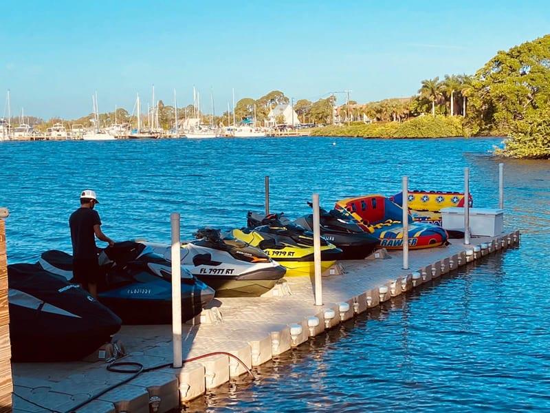 Candock Jet ski dock for Jet ski rental business