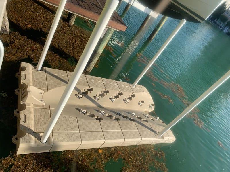 Beige Candock JetROLL yamaha or SeaDoo jet ski floating dock