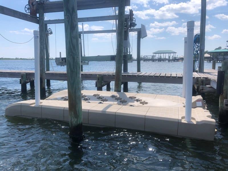 Candock floating dock for waverunner