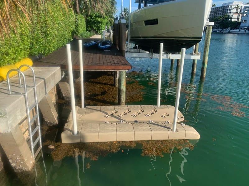 Candock JetROLL foam-filled floating dock for jet ski with wheels